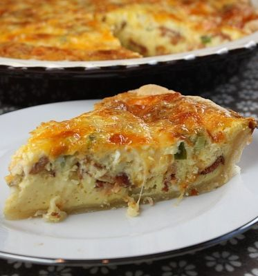Swiss and Cheddar Quiche with Bacon. | Food-Food | Pinterest