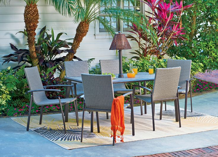 When your daytime pool party lasts into the night, you can easily swap out your patio umbrella with an outdoor lamp. It has an on/off dimmer switch and comes in a variety of colors to match your decor.