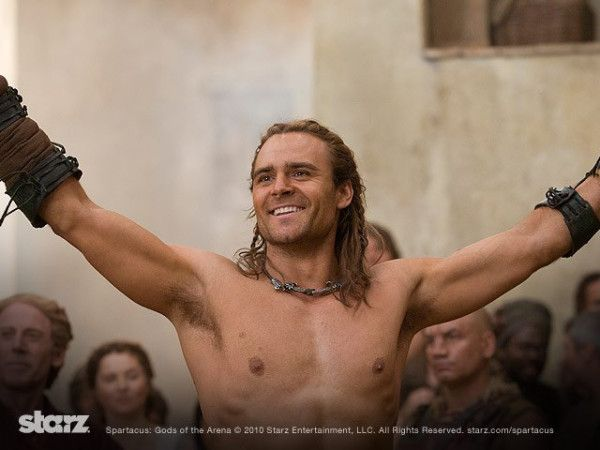 Dustin Clare as Gannicus from Spartacus