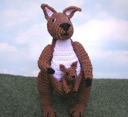 Free Crochet Pattern For Kangaroo : crochet kangaroo crochet Pinterest