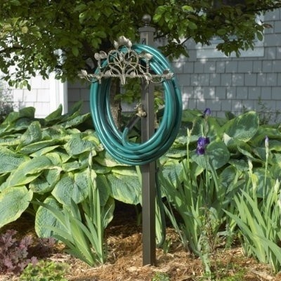 Hose station with remote spigot garden tips pinterest for Garden spigot