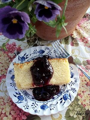 Lemon Ricotta Pound Cake with Blueberry Sauce from Bunny's Warm Oven # ...