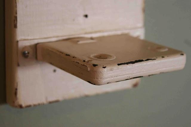 Mortise locks become shelves