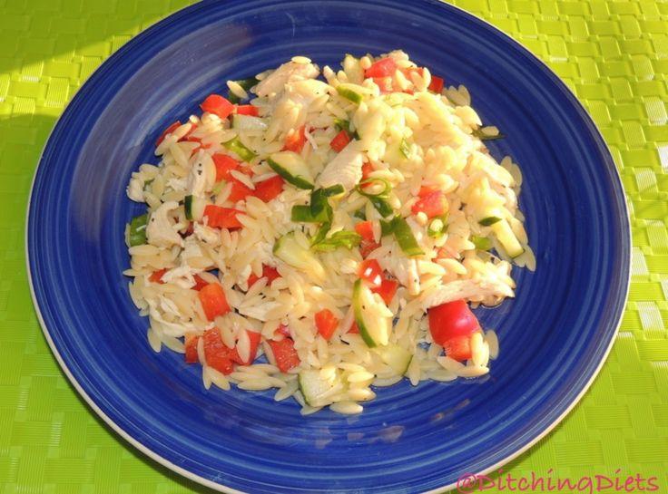 Lemony Orzo-Veggie Salad with Chicken   Pasta   Pinterest