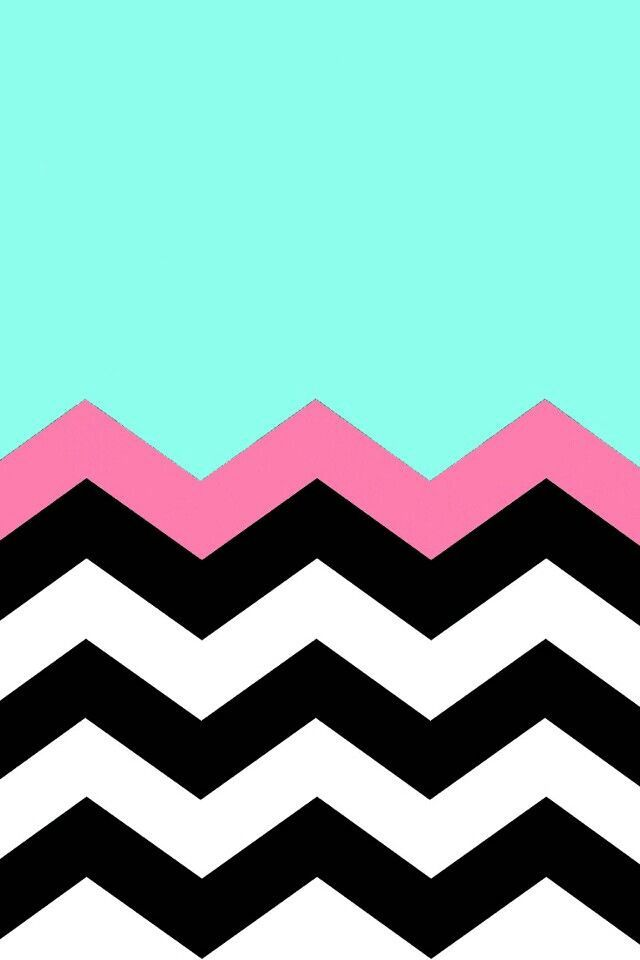Teal black and pink chevron stripes backgrounds pinterest for Teal chevron wallpaper