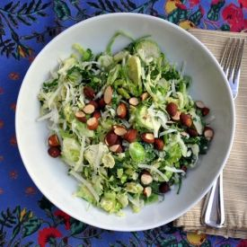 Shaved Brussels Sprout and Chard (or kale) Salad with Pecorino and ...