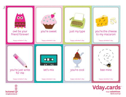 Cute printables for #ValentinesDay