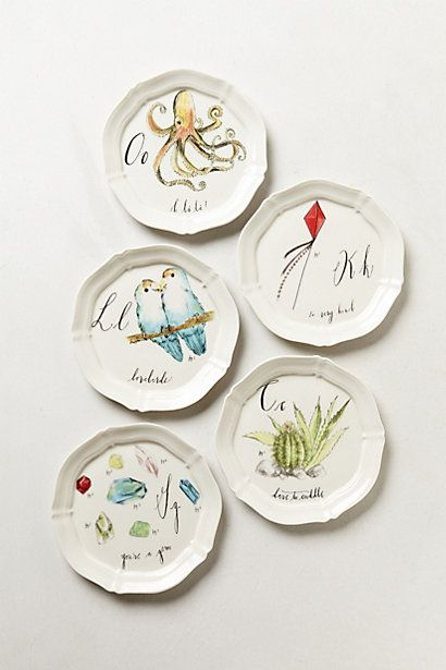 calligrapher canape plate anthropologie linea carta by