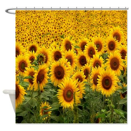 SunFlowers Shower Curtain On