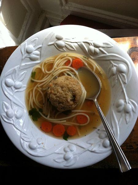 vegetarian matzah ball soup | Vegetarian Eats | Pinterest