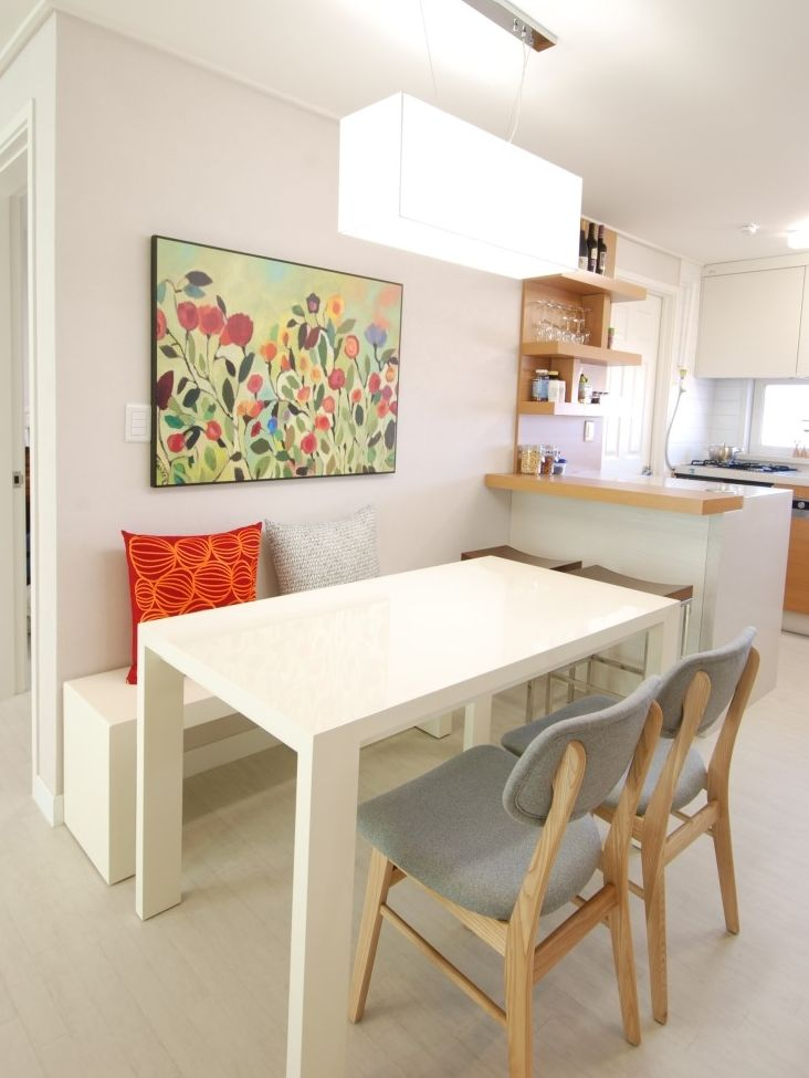 Clean And Simple Dining Area For Small Spaces Dining