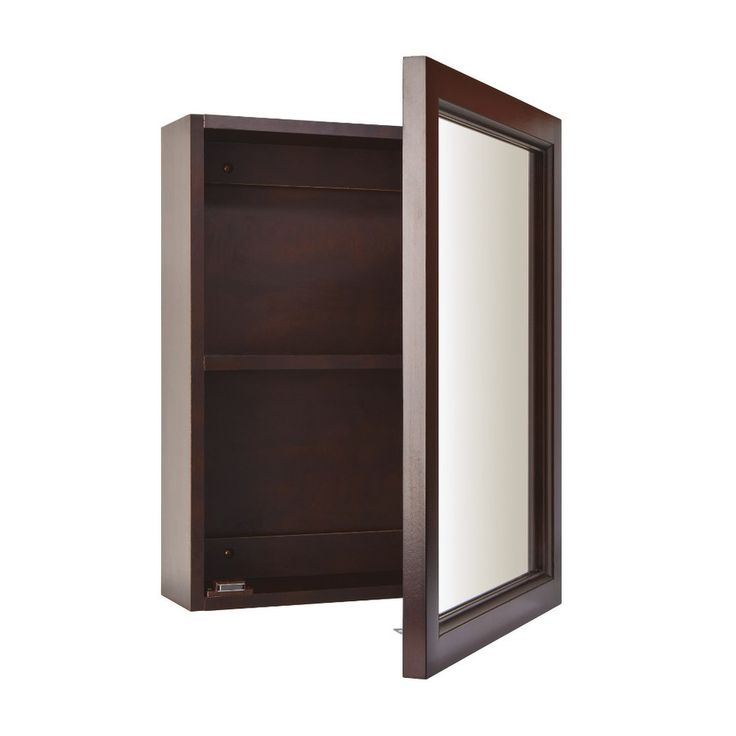 19 in espresso cherry surface mount medicine cabinet at 75