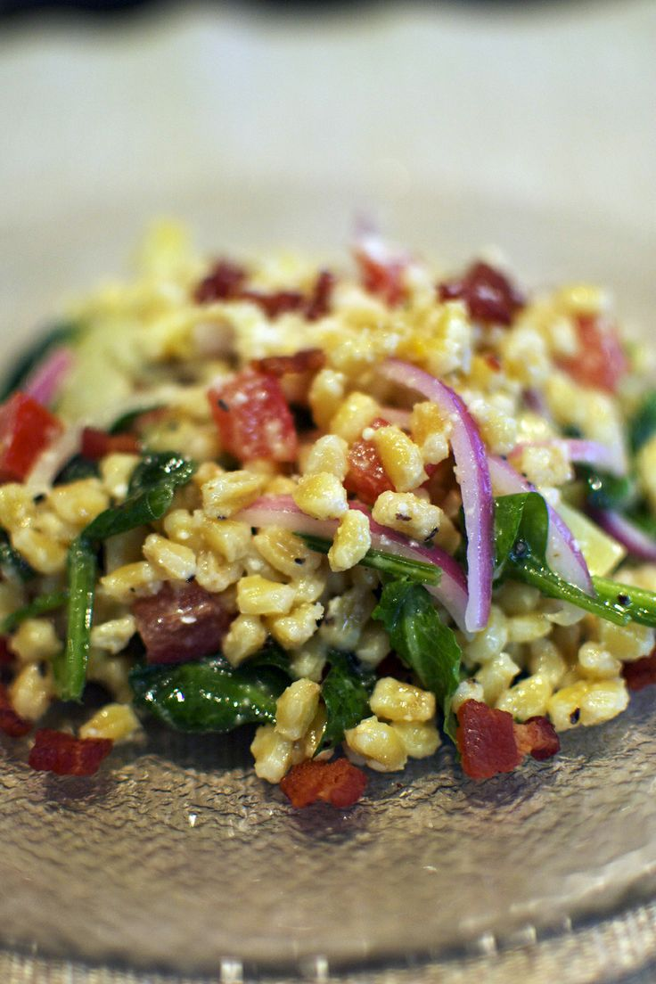 (Wheat Berry) Salad with Lemon Vinaigrette, Baby Kale, Red Onions ...
