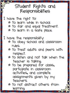 Student Rights & Responsibilities  Love this!!!