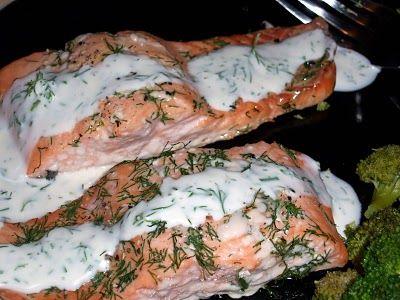 Baked salmon & dill mustard sauce | Food/drinks | Pinterest