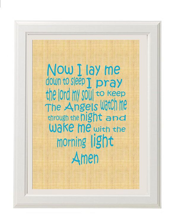 $20- Children's Prayer Print