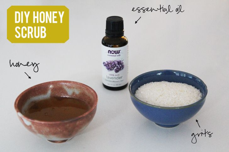 DIY honey scrub for lips and body