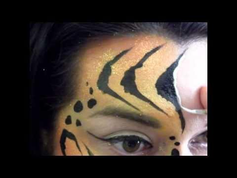 Tiger Eye Face Painting Tutorial | Face Painting Fun | Pinterest