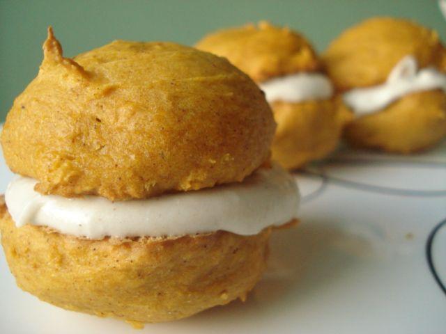 Pumpkin Whoopie Pies and Mini Cakes | cakes cakes cakes | Pinterest