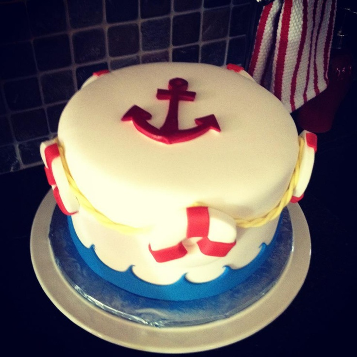 Nautical baby shower cake - by: Mind Over Batter, Tempe, AZ