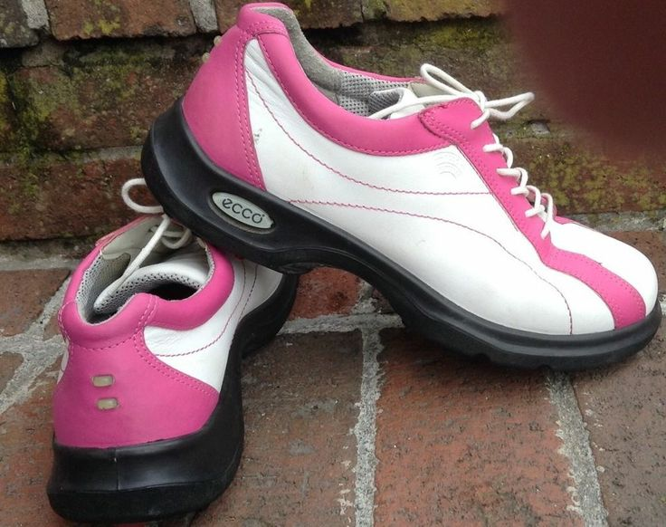 ECCO WOMENS GOLF SHOES HYDROMAX WHITE/PINK 40 9/9.5 US SOFT SPIKE