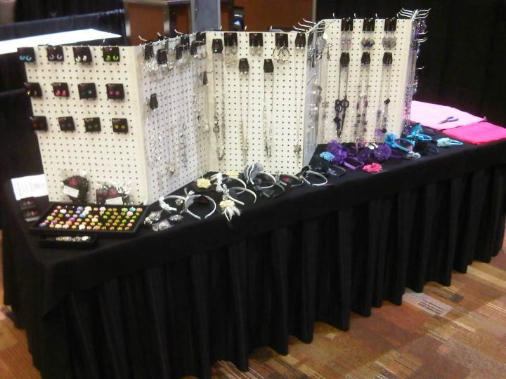 Jewelry For Five Support: pegboard  Craft show displays, Jewelry di ...
