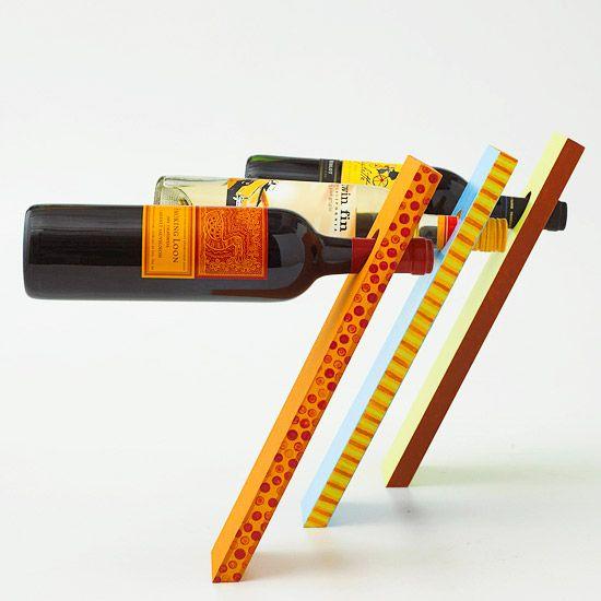 DIY Wine Bottle Stand