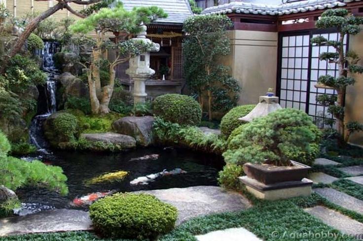 Koi Fish Backyard Pond : Japanese garden Koi fish pond  Garden  Fish Ponds  Pinterest