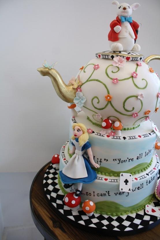 alice cake alice in wonderland pinterest