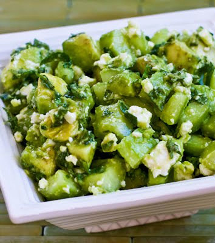 chopped salad with feta lime and mint recipes dishmaps chopped salad ...