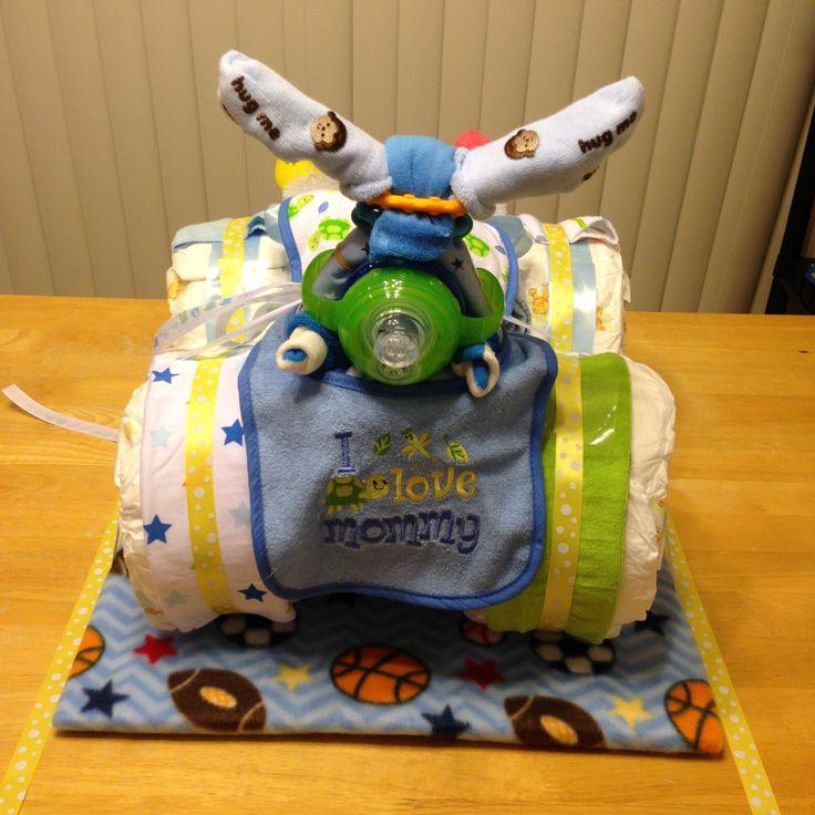 3 wheeler diaper cake instructions