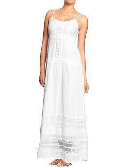 Womens Crochet-Lace Maxi Dresses