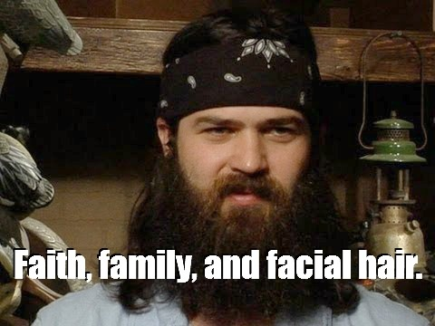 "Faith, family, and facial hair."" - Jeb Robertson #DuckDynasty http"
