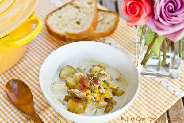 ... Corn Chowder with Roasted Potato (I like to add some roasted red bell