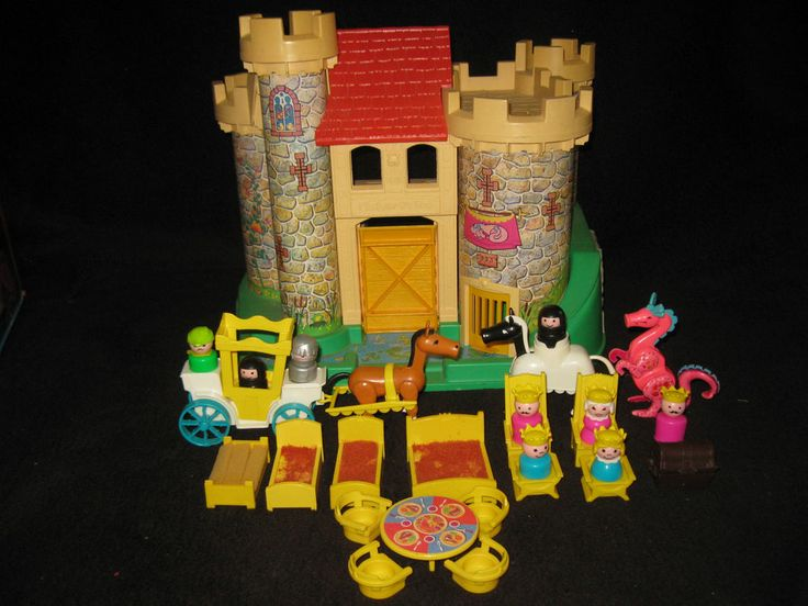 Vintage Fisher Price Little People Castle 0993 Furniture Dragon