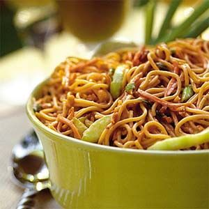 had an asian spicy peanut noodle dish made with peanut butter once ...