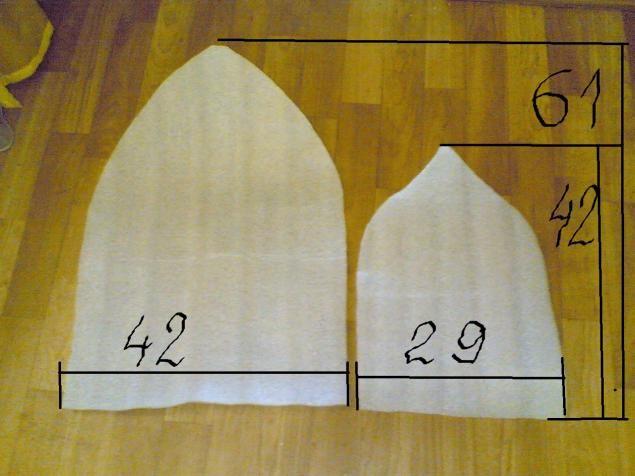 Сшить шапку для бани выкройка 89