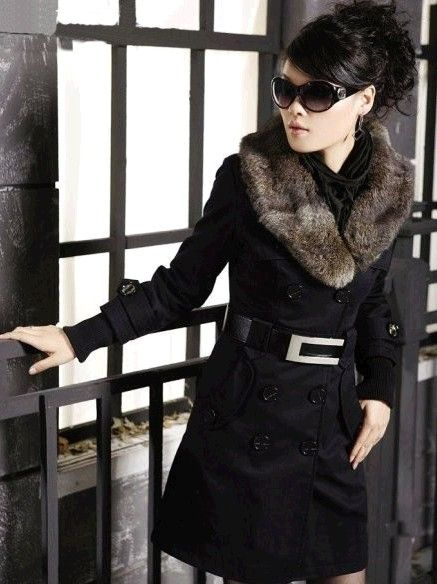 fashion Women's Coats Winter Warm Long Coats Faux Fur Jackets women