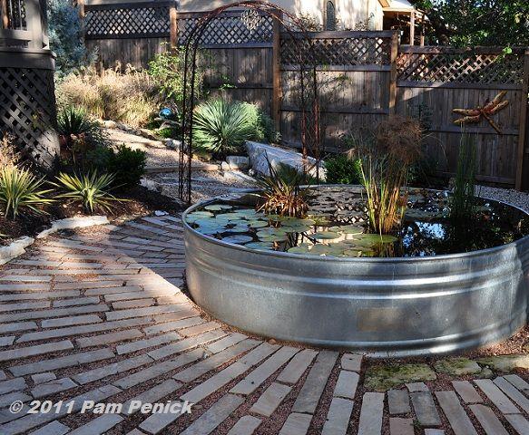 Stock Tank As Water Garden Crafty Ideas Pinterest
