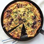 Mushroom, Leek, and Fontina Frittata | Recipe