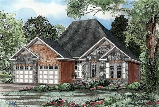Pin by bradmisty portier on house plans pinterest for House plans with offset garage