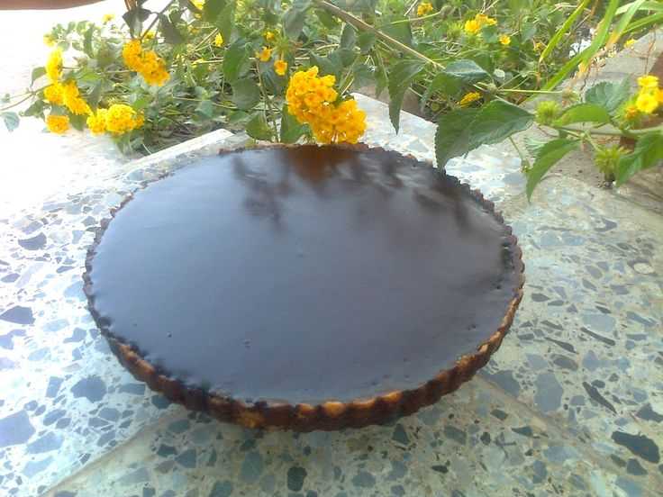 Chocolate Glazed Chocolate Tart This tart was one I have been eyeing ...