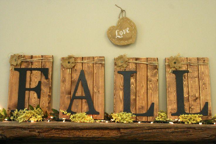 FALL Home Decor Holiday Crafts Decor Pinterest