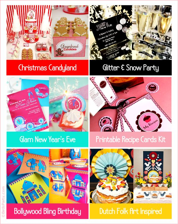 Got a Last Minute Party to Plan? These printables will help!! :) by Bird's Party #printables #party #partyideas #lastminuteparty #shop
