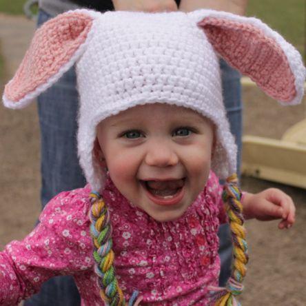 Free Crochet Pattern For Bunny Ears : bunny hat pattern crochet Pinterest