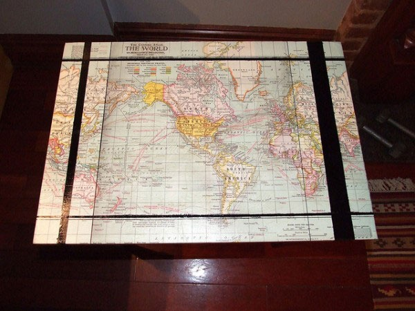 How To Make Your Own Map Coffee Table Crafty McCrafterson Pinter