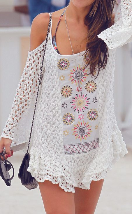 Boho beach coverup