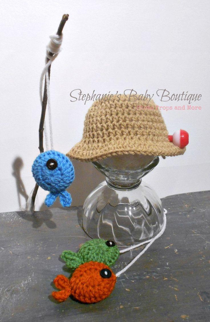 Crochet Pattern Baby Fishing Hat : Crochet Newborn Baby Fisherman Pattern, PDF 102, Fishing ...