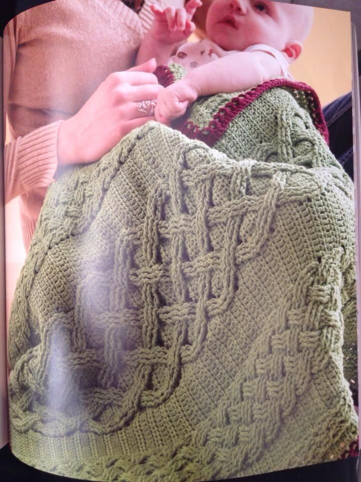 Crochet Cable Baby Blanket Pattern : Cable crochet blanket Knitting and Crochet Projects ...