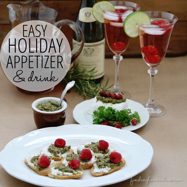 Easy Holiday Appetizer Drink